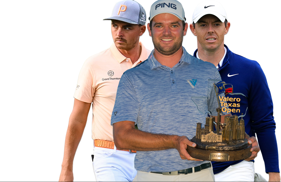 Rickie Fowler, Corey Conners, Rory McIlroy