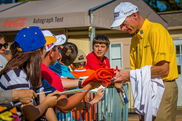PGA TOUR pro Jim Furyk at the Autograph Zone