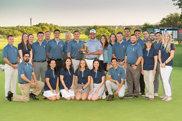 VTO Staff with 2019 Valero Texas Open Champion Corey Conners